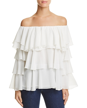 Endless Rose Off-the-Shoulder Tiered Ruffle Top