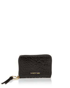 Elizabeth and James Zip Embossed Leather Card Case 1908021