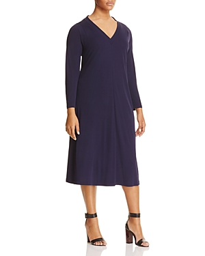 Marina Rinaldi Orlo V-Neck Jersey Midi Dress