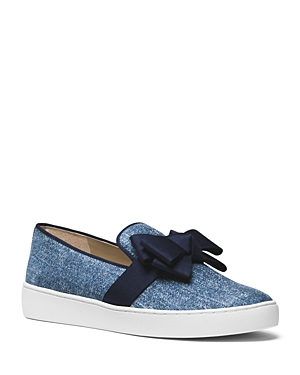 Michael Kors Collection Val Bow Slip-On Sneakers