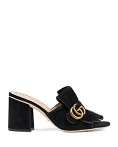 Gucci - Women's Marmont Mid Heel Slide Sandals