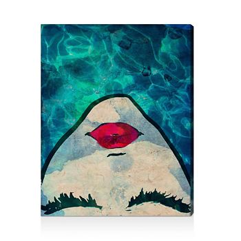 """Oliver Gal - Water Coveted Wall Art, 17"""" x 22"""""""