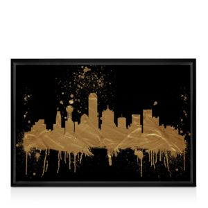 Oliver Gal Dallas Skyline Wall Art, 24 x 16