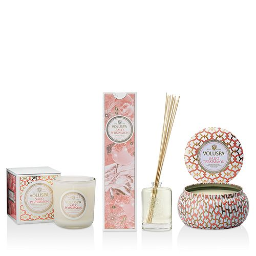Voluspa Saijo Persimmon Candles Diffusers
