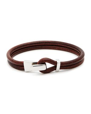 Aubaine Leather Wrap Bracelet