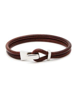 Aubaine Leather Wrap Bracelet