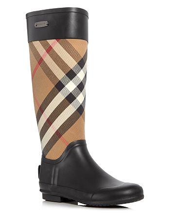 Burberry - Women's Clemence Signature Check Rain Boots