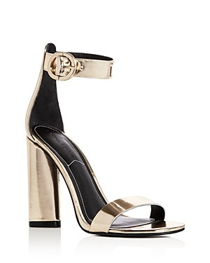 Kendall and Kylie Giselle Metallic Ankle Strap High Heel Sandals