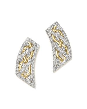 Diamond Micro Pave Earrings in 14K Yellow Gold, .60 ct. t.w.