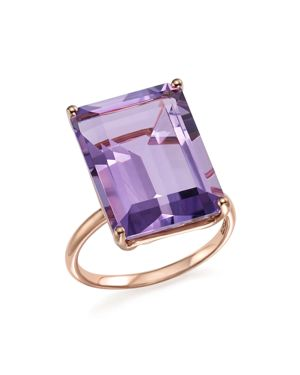 Amethyst Statement Ring in 14K Rose Gold - 100% Exclusive