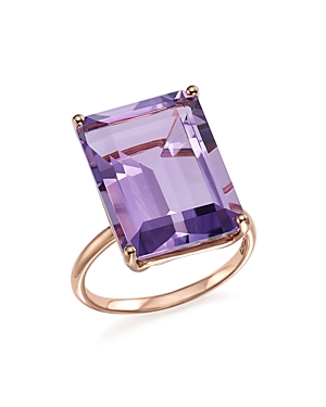 Amethyst Statement Ring in 14K Rose Gold - 100% Exclusive-Jewelry & Accessories