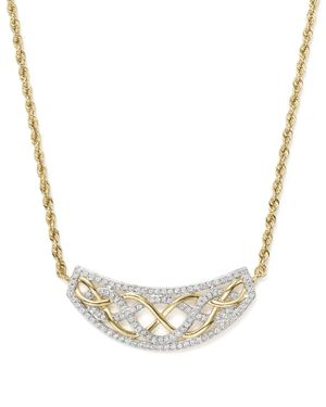 Diamond Micro Pave Necklace in 14K Yellow Gold, .50 ct. t.w.