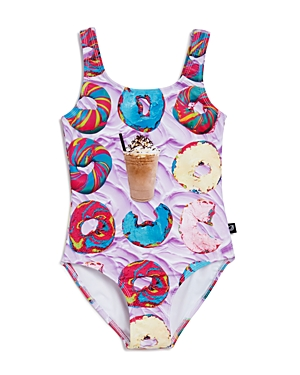 Terez Girls' Rainbow Bagel Print One Piece Swimsuit - Little Kid, Big Kid