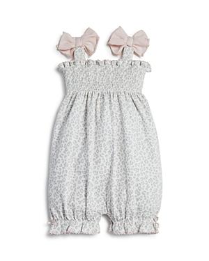 Bloomie's Girls' Animal Print Knit Romper, Baby - 100% Exclusive