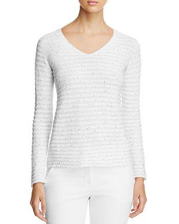 Armani Collezioni - Sequin Striped Sweater