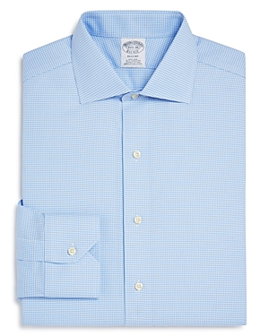 Brooks Brothers Regent Oxford Houndstooth Classic Fit Dress Shirt