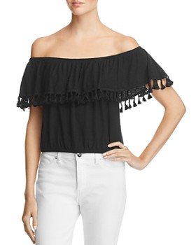 Michelle by Comune - Pom Off-the-Shoulder Top - 100% Exclusive