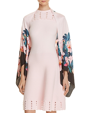 Ted Baker Orchid Wonderland Cape Scarf 100% Exclusive at Bloomingdale's