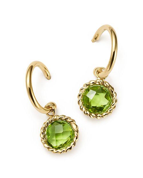 Bloomingdale's - Peridot Small Hoop Earrings in 14K Yellow Gold- 100% Exclusive