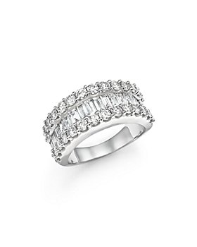 Bloomingdale's - Diamond Round and Baguette Band in 14K White Gold, 3.0 ct. t.w. - 100% Exclusive