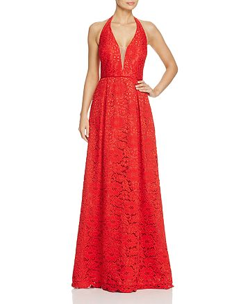 JS Collections - Lace Halter Gown