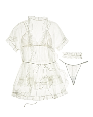 In Bloom by Jonquil Babydoll & Robe 4-Piece Set