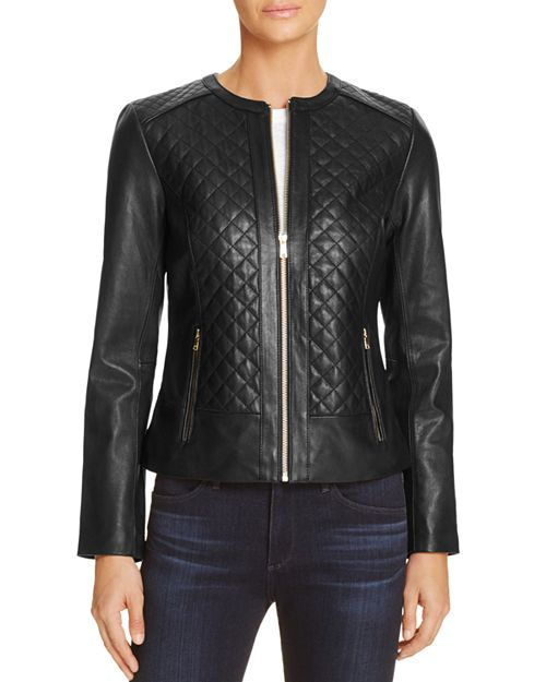 Cole Haan Quilted Leather Jacket Bloomingdales