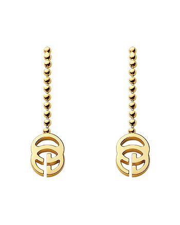 Gucci - 18K Yellow Gold Running G Earrings