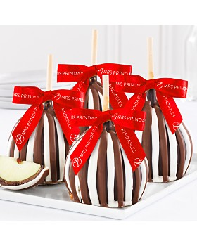Mrs. Prindable's - Holiday Triple Chocolate Petite Caramel Apples, 4 Pack