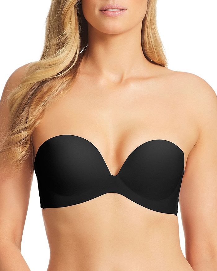 Fine Lines Refined Wireless Strapless Bra In Black