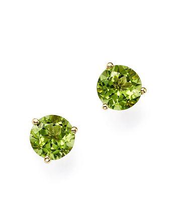 Bloomingdale's - Peridot Stud Earrings in 14K Yellow Gold- 100% Exclusive