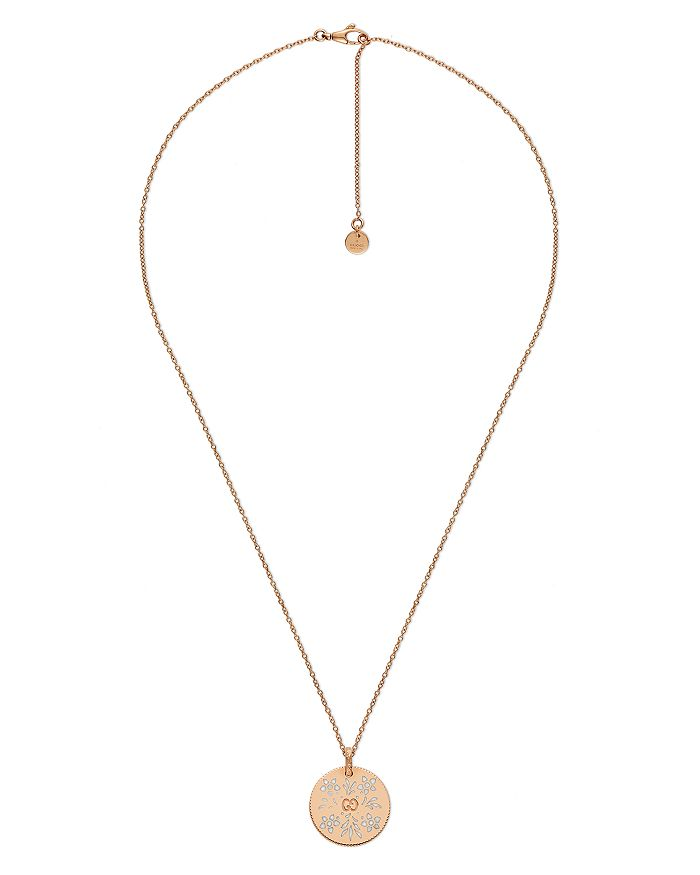 Gucci - 18K Yellow Gold Icon Blooms Necklace, 17""