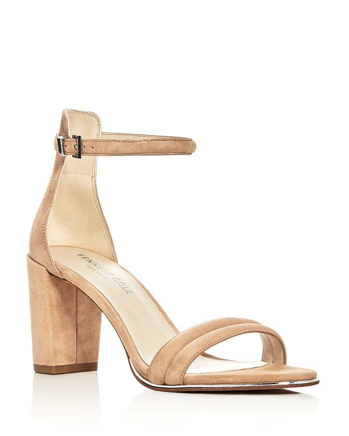 Kenneth Cole - Women's Lex Suede Ankle Strap Block Heel Sandals