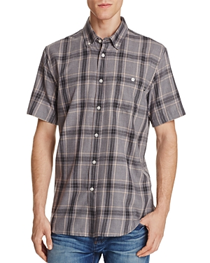 Obey Plaid Regular Fit Button-Down Shirt