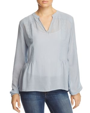 B Collection by Bobeau Meli Embroidered Blouse
