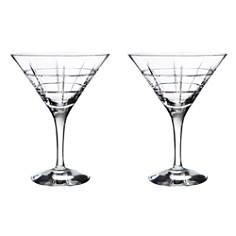 """Orrefors """"Street"""" Martini Pair - Bloomingdale's Registry_0"""