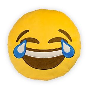 Throwboy Crying Emoji Decorative Pillow, 14 Diameter