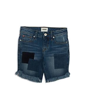 Hudson Girls' Patched & Distressed Denim Shorts - Big Kid
