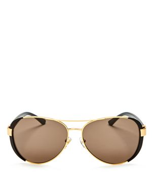 Tory Burch Aviator Sunglasses, 61mm