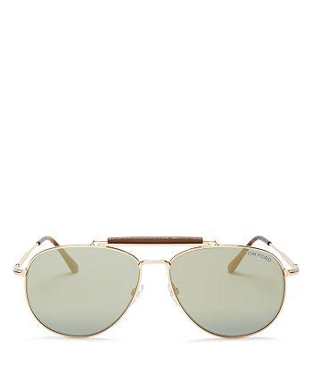 Tom Ford - Men's Sean Top Bar Aviator Metal Sunglasses, 60mm