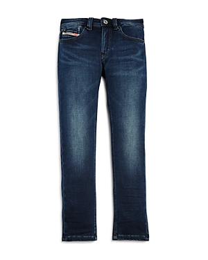 Diesel Boys Waykee Straight Distressed Stretch Jeans  Little Kid Big Kid