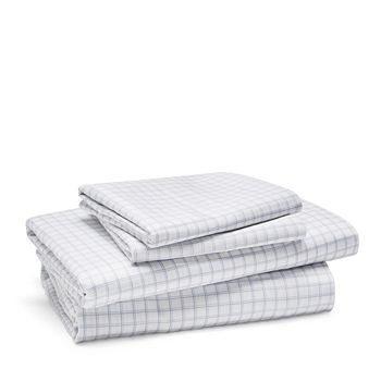 Bloomingdale's Essentials - Denver Grid Sheet Set, Queen - 100% Exclusive