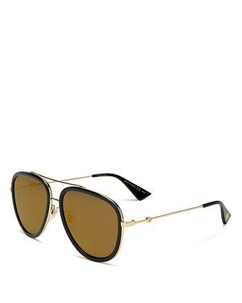Gucci - Women's Mirrored Aviator Sunglasses, 57mm