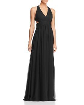Aidan Mattox - Cutout Silk Gown