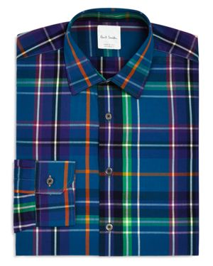 Paul Smith Bright Exploded Check Slim Fit Dress Shirt - 100% Exclusive