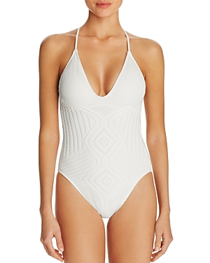Polo Ralph Lauren Crochet One Piece Swimsuit