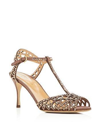 49e872637 Sergio Rossi - Women s Tresor Swarovski Crystal T-Strap High-Heel Sandals