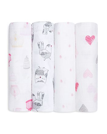 Aden and Anais - Infant Girls' Swaddle, 4 Pack