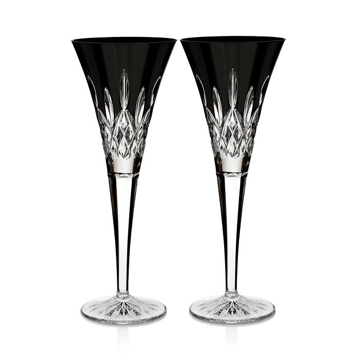 Waterford - Lismore Black Flute, Set of 2