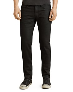 John Varvatos Star USA - Bowery Slim Straight Fit Jeans in Jet Black